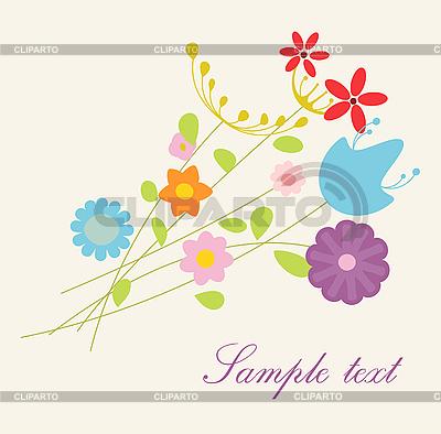 Bukiet kwiatów | Klipart wektorowy |ID 3051759