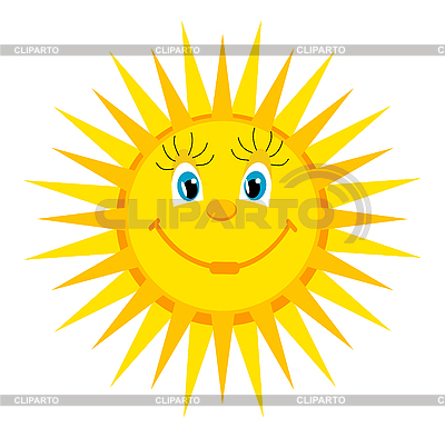 Lächelnde Sonne | Stock Vektorgrafik |ID 3051773