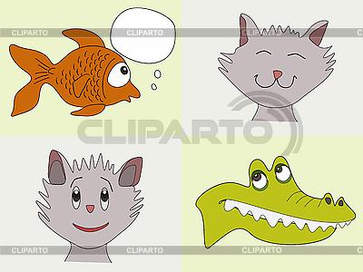 Lustige Tiere | Stock Vektorgrafik |ID 3051820