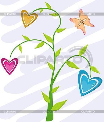 Floral karty z motylem | Klipart wektorowy |ID 3051832