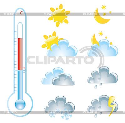 Pogoda ikony | Klipart wektorowy |ID 3051852