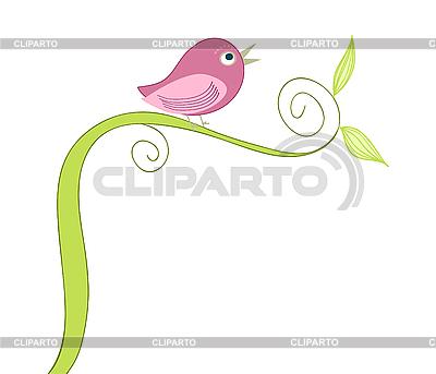 Kartkę z życzeniami z ptakiem | Klipart wektorowy |ID 3051886