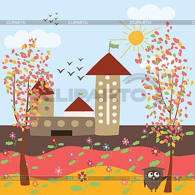 Herbstlandschaft in einer Stadt | Stock Vektorgrafik |ID 3058297