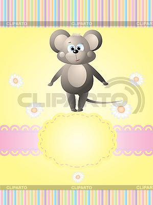 Karta zaproszenie z myszką | Klipart wektorowy |ID 3069445