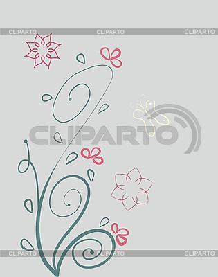 Kwiatowy wzór | Klipart wektorowy |ID 3069509