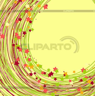 Wirowa tle z linii i gwiazdy | Klipart wektorowy |ID 3069644