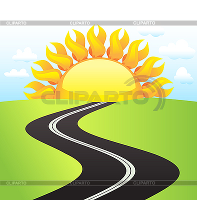 Straße am sonnigen Tag | Stock Vektorgrafik |ID 3069656