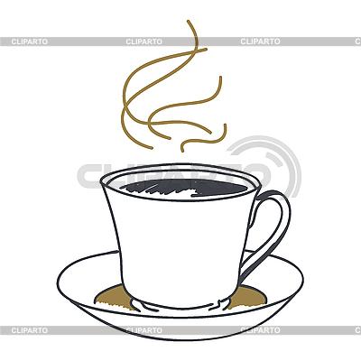 Чашка кофе фото сверху