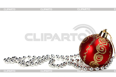 Rote Weihnachtskugel | Foto mit hoher Auflösung |ID 3041604