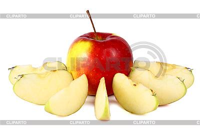 картинка контур яблока