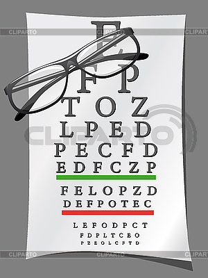 Wykresy oczu i okulary | Klipart wektorowy |ID 3043943