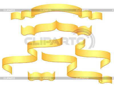 Złote wstążki | Klipart wektorowy |ID 3043979