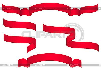 Czerwone sztandary | Klipart wektorowy |ID 3044123