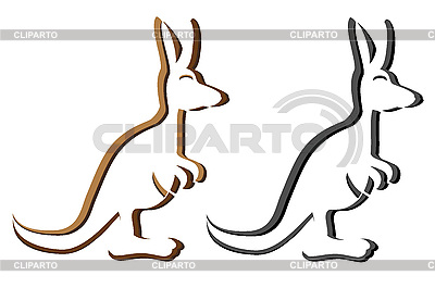 Canguro emblema silueta logotipo | Foto de alta resolución |ID 3046479