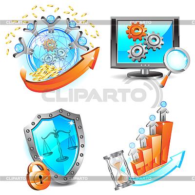 Biznes ikony ustaw | Klipart wektorowy |ID 3045777