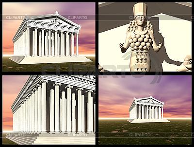 Świątynia Artemidy w Efezie. Rekonstrukcje 3D | Stockowa ilustracja wysokiej rozdzielczości |ID 3045827