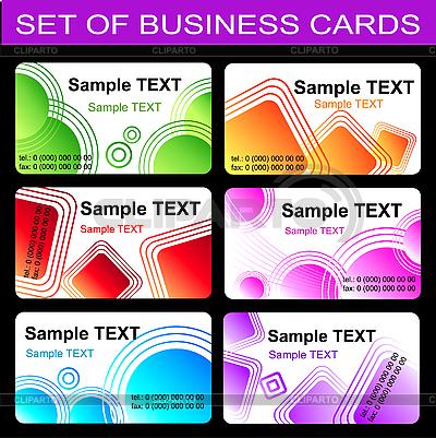 Zestaw szablonów wizytówek | Klipart wektorowy |ID 3046052