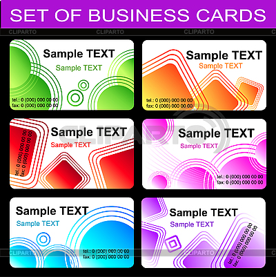 Set von Visitenkarten | Stock Vektorgrafik |ID 3046052