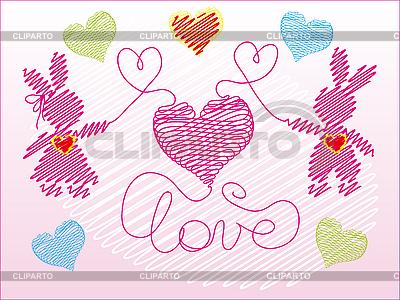Kleine rosa Häschen | Stock Vektorgrafik |ID 3046409
