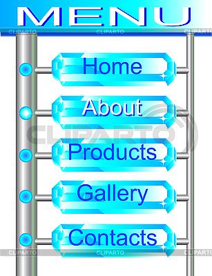 Brilliant internetowej zestaw przycisków menu | Klipart wektorowy |ID 3058739