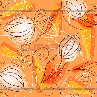 Nahtloser Hintergrund mit Blumen | Stock Vektorgrafik |ID 3072780