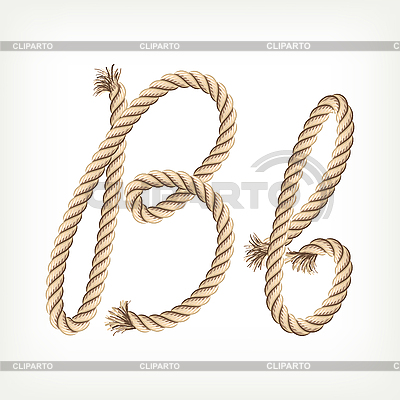 Seil-Buchstabe B | Stock Vektorgrafik |ID 3072800