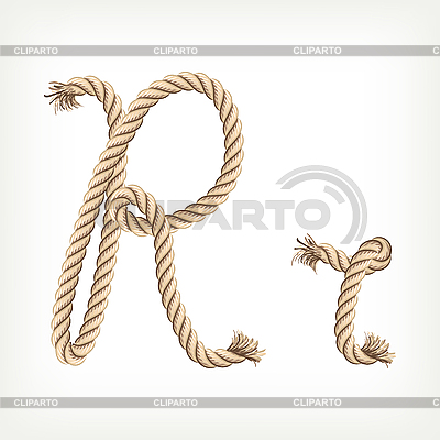 Seil-Buchstabe R | Stock Vektorgrafik |ID 3072832