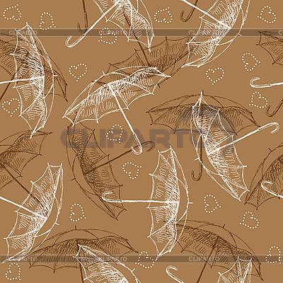 Бесшовный фон с зонтиками | Векторный клипарт |ID 3072866
