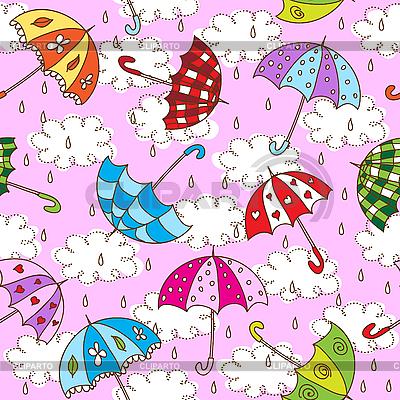 Nahtloser Hintergrund mit Regenschirmen | Stock Vektorgrafik |ID 3073493