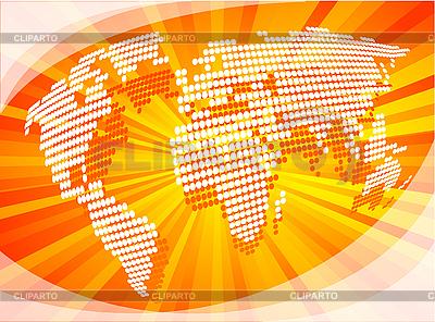 Dotted map | Klipart wektorowy |ID 3073519
