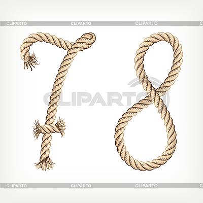 Ziffern 78 aus Seilen | Stock Vektorgrafik |ID 3073539