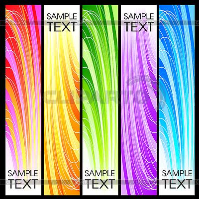 Zestaw streszczenie banery | Klipart wektorowy |ID 3078716