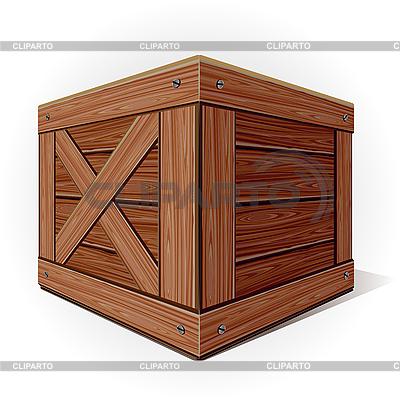 Stare drewniane pudełko | Klipart wektorowy |ID 3081667