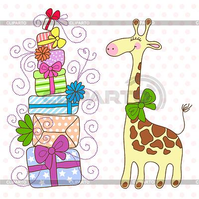 Открытки жирафа с днем рождения