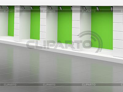 Leeres grünes Schaufenster | Illustration mit hoher Auflösung |ID 3061916