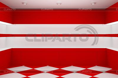 Пустой магазин с полками | Иллюстрация большого размера |ID 3145335