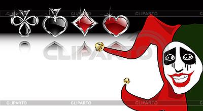 Grać garnitury kartke Joker | Klipart wektorowy |ID 3040530