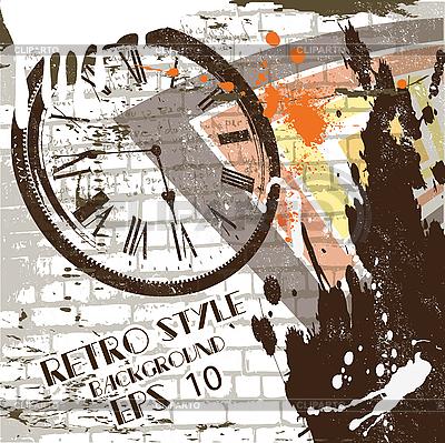 Wand als Grunge-Hintergrund | Stock Vektorgrafik |ID 3040565