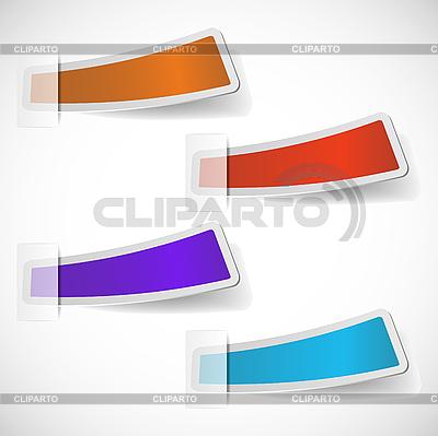 Kolorowe naklejki zestaw | Klipart wektorowy |ID 3044740