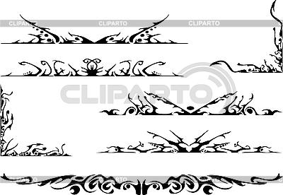 Set von tribalen Ornamenten | Stock Vektorgrafik |ID 3122033