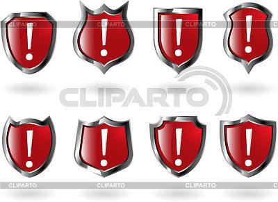 Set von roten Schilden | Stock Vektorgrafik |ID 3215336