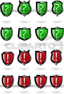 значок щит с восклицательным знаком