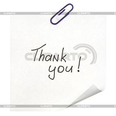 Danke-Nachricht | Foto mit hoher Auflösung |ID 3054423
