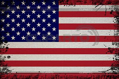 US-Flagge im Retro-Stil | Foto mit hoher Auflösung |ID 3054433