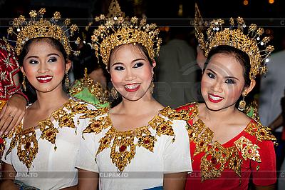 Thailändische Tänzerinen in bunten Kostümen | Foto mit hoher Auflösung |ID 3056413