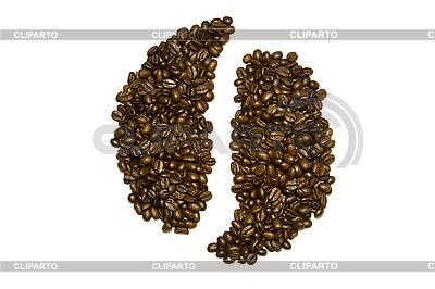Ying-Yang-Zeichen von Kaffeebohnen | Foto mit hoher Auflösung |ID 3056451