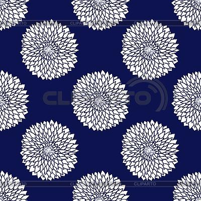 Einfaches blaues Blumenmuster | Stock Vektorgrafik |ID 3041776