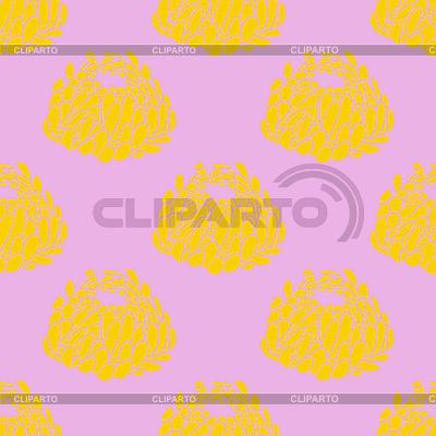 Prosty różowy kwiatowy wzór | Klipart wektorowy |ID 3041778