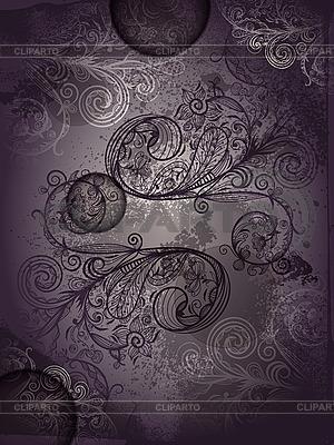 Abstraktes Blumenmuster im Grunge-Stil | Stock Vektorgrafik |ID 3042130