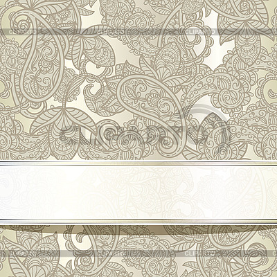 Nahtloser Paisley-Hintergrund mit Band | Stock Vektorgrafik |ID 3042304